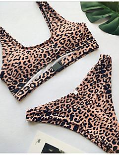 billige Bikinier og damemote 2017-Dame Bikini - Trykt mønster, Cheeky Leopard