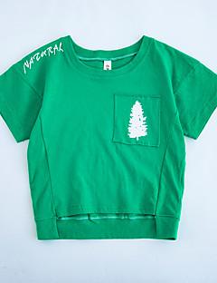 billige Overdele til drenge-Børn Drenge Patchwork Kortærmet Bluse
