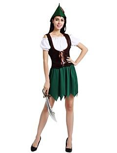 billige Halloweenkostymer-Alv Drakter Dame Halloween / Karneval / De dødes dag Festival / høytid Halloween-kostymer Grønn Ensfarget / Halloween Halloween
