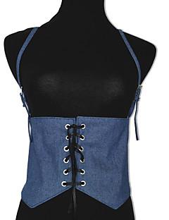 baratos Cintos de Moda-Mulheres Vintage Festa Activo Tecido, Largo Sólido