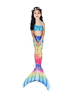 povoljno -The Little Mermaid Kupaći kostimi / Bikini / Kostim Žene Halloween / Karneval Festival / Praznik Halloween kostime Ink Blue Vintage