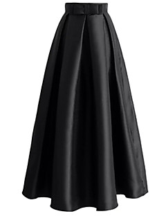 cheap Designers Collections-Women's Active / Basic Maxi A Line Skirts - Solid Colored Bow High Waist