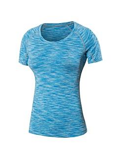 billige Løbetøj-Dame Løbe-T-shirt T-Shirt - Sport Pilates, Træning & Fitness, Basketbold Kortærmet Letvægt, Hurtig Tørre, Åndbarhed Elastisk Grøn, Blå,