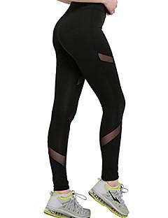 billiga Träning-, jogging- och yogakläder-Dam Yoga byxor - Svart sporter Ihålig Cykling Tights / Leggings Sportkläder Dans, Snabb tork Elastisk