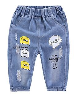 billige Jeans til piger-Baby Pige Trykt mønster Jeans