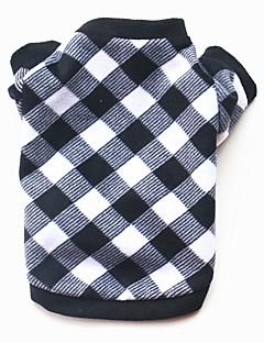 billiga Hundkläder-Hund / Katt / Husdjur Tröja / Vinterkläder Hundkläder Pläd / Rutig / Tecknat Cotton Kostym För husdjur Herr Ledigt / vardag / Håller