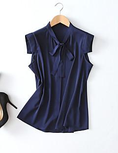 billige Bluse-Dame - Ensfarvet Kvast Vintage Bluse Sort og hvid