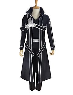 """billige Anime Kostymer-Inspirert av Sword Art Online Kirito Anime  """"Cosplay-kostymer"""" Cosplay Klær Ensfarget Langermet Frakk / Bukser / Hansker Til Herre / Dame"""