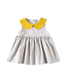 billige Pigekjoler-Børn Pige Farveblok Uden ærmer Kjole
