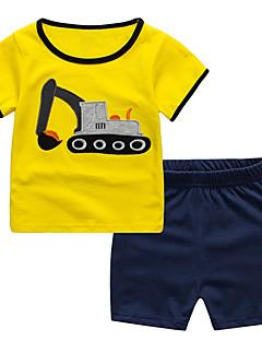 billige Tøjsæt til drenge-Børn / Baby Drenge Farveblok Kortærmet Tøjsæt
