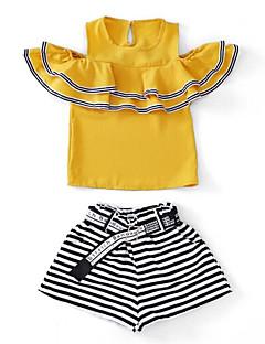 billige Tøjsæt til piger-Børn Pige Stribet Kortærmet Tøjsæt