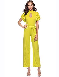 billige Jumpsuits og sparkebukser til damer-Dame Kjeledresser - Ensfarget, Uthult
