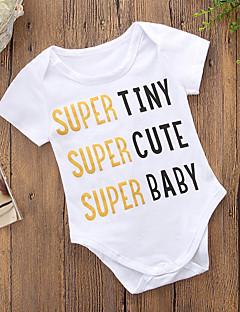 billige Babytøj-Baby Unisex Trykt mønster Kort Ærme Bodysuit