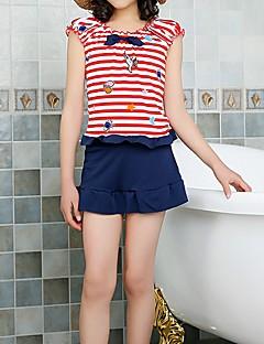 billige Badetøj til piger-Børn Pige Ensfarvet / Stribet / Farveblok Kort Ærme Badetøj