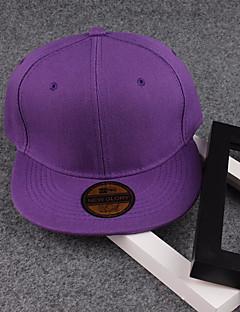 billige Trendy hatter-Unisex Aktiv Grunnleggende Baseballcaps Ensfarget Bomull