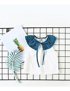 billige Babytøj-Baby Pige Farveblok Uden ærmer T-shirt