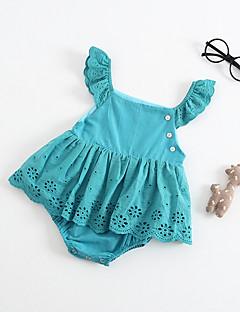 billige Babytøj-Baby Pige Ensfarvet Uden ærmer Bodysuit