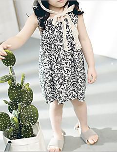 billige Babykjoler-Baby Pige Trykt mønster Uden ærmer Kjole