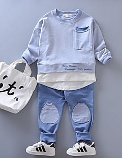 billige Tøjsæt til drenge-Børn Drenge Farveblok Langærmet Tøjsæt
