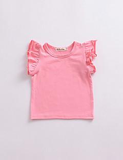 billige Babyoverdele-Baby Pige Ensfarvet Uden ærmer T-shirt