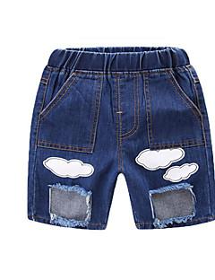billige Jeans til drenge-Børn Drenge Ensfarvet / Patchwork Jeans
