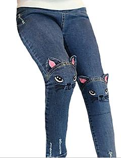 billige Bukser og leggings til piger-Børn Pige Trykt mønster Bukser