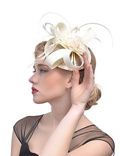 billige Hårpynt til damer-Dame Vintage / Elegant fascinator - Blomst / Netting, Ensfarget