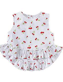 billige Babytøj-Baby Pige Prikker / Frugt Uden ærmer Kjole