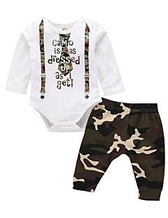 billige Babytøj-Baby Unisex Trykt mønster Langærmet Tøjsæt