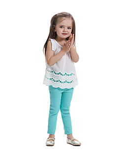 billige Pigetoppe-Børn Baby Pige Farveblok Uden ærmer T-shirt