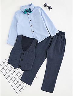 billige Tøjsæt til drenge-Drenge Indstiller Ensfarvet,Bomuld Polyester Vinter Efterår Langt Ærme Tøjsæt