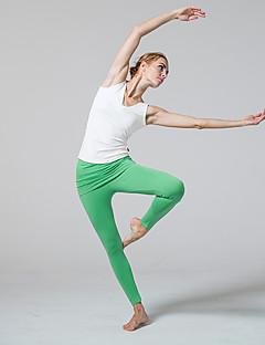 billiga Träning-, jogging- och yogakläder-CONNY Dam V-hals Yoga Top - Vit, Svart sporter Linne Ärmlös Sportkläder Yoga, Fitness, Vadderad Microelastisk