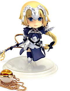 billige Anime cosplay-Anime Action Figurer Inspirert av Skjebne / Grand Order Jeanne d'Arc PVC 10cm CM Modell Leker Dukke