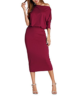 Women's Slim Bodycon Dress Low Waist One Shoulder