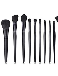 billiga Sminkborstar-11 st Makeupborstar Professionell Borstsatser Nylon fiber Miljövänlig / Mjuk Trä / Bambu