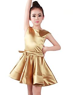 tanie Stroje baletowe-Balet Suknie Dla dziewczynek Szkolenie / Wydajność Orlon Satynowa kokarda / Marszcząca się Bez rękawów Naturalny Ubierać