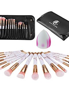 billiga Sminkborstar-16st Makeupborstar Professionell Borstsatser Nylon fiber Miljövänlig / Mjuk Plast