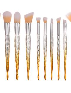 billiga Sminkborstar-10-Pack Makeupborstar Professionell Borstsatser Nylon fiber Miljövänlig / Mjuk Plast