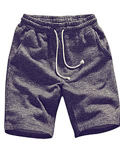 billige Herrebukser og -shorts-Herre Store størrelser Bomull Løstsittende Chinos / Shorts Bukser Ensfarget