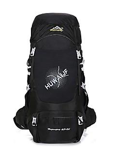 billiga Ryggsäckar och väskor-55-75 L Ryggsäck / ryggsäck - Regnsäker, Bärbar, Mateial som andas Camping, Klättring Nylon Mörkblå, Blå, Silver+Orange
