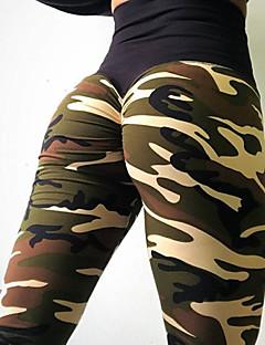 tanie Getry-Damskie Codzienny Sportowy Legging - Kamuflaż, Nadruk Średni Talia / Lato / Sportowy look