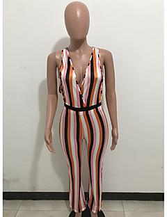 billige Jumpsuits og sparkebukser til damer-kvinner går ut jumpsuit - stripet stropp