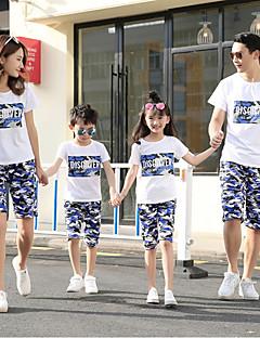 billige Sett med familieklær-Familie Look Geometrisk Kortermet T-skjorte