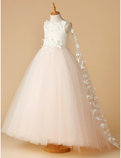 Cheap flower girl dresses online flower girl dresses for 2018 ball gown floor length flower girl dress lace tulle sleeveless jewel neck with beading appliques flower by lan ting bride mightylinksfo