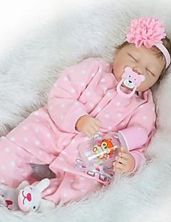 זול הזמן לטרום-סתיו הלבשה לילדים-NPKCOLLECTION NPK DOLL בובה מחדש תינוק 24 אִינְטשׁ סיליקון ויניל - יָלוּד כְּמוֹ בַּחַיִים ידידותי לסביבה מתנה עבודת יד בטוח לשימוש ילדים הילד של בנות צעצועים מתנות / Non Toxic