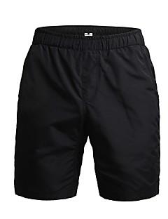 billige Sykkelbukser,Shorts,Strømpebukser, Tights-Jaggad Herre Fôrede sykkelshorts Sykkel Shorts / Hengende Shorts / MTB-shorts 3D Pute, Pustende Ensfarget Polyester Svart Sykkelklær