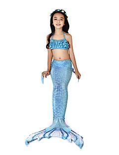 olcso -The Little Mermaid Fürdőruha Bikini Jelmez Lány Gyermek Vintage Mindszentek napja Farsang Fesztivál / ünnepek Mindszentek napi kösztümök ruhák Tintakék Sellő