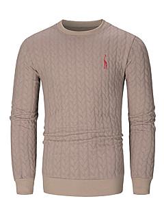 baratos Abrigos e Moletons Masculinos-Homens Básico Jacket Hoodie Sólido