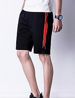 billige Herrebukser og -shorts-Herre Aktiv Chinos / Joggebukser Bukser Ensfarget