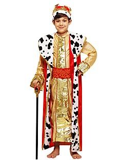 baratos Fantasias de Crianças-Fantasias Roupa Para Meninos Dia Das Bruxas / Carnaval / Dia da Criança Festival / Celebração Trajes da Noite das Bruxas Dourado Sólido / Halloween Dia Das Bruxas